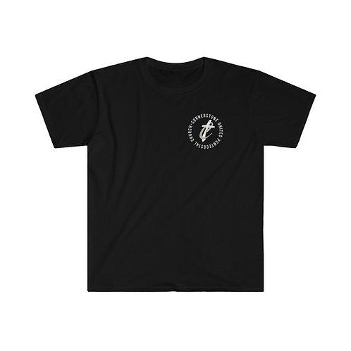 Cornerstone Logo   Short Sleeve   Unisex Softstyle T-Shirt