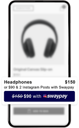 Look for Swaypay at participating stores to unlock your savings