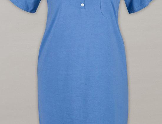 Cotton Short Sleeves Nightie 14-32 (Denim)
