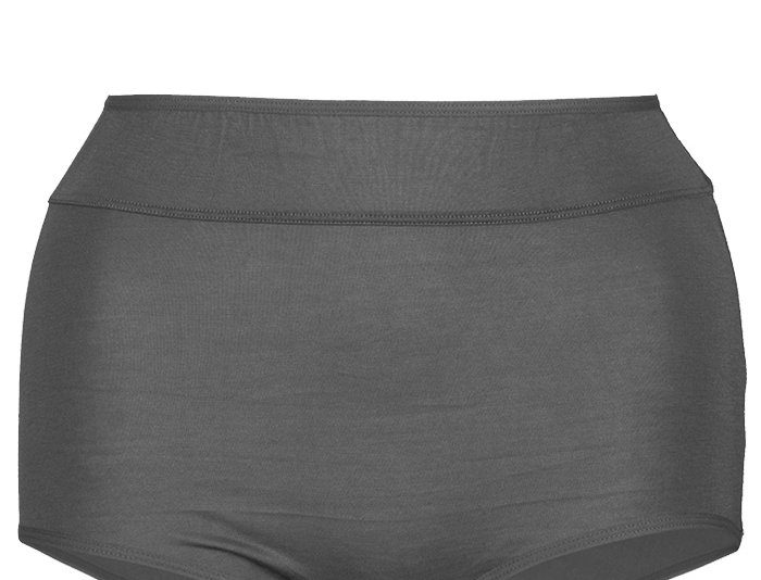 NEW FIT - Comfy Cotton Full Brief Panty 14-36 (Black)