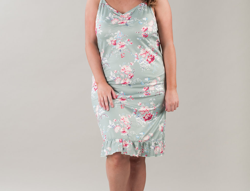 Early Settler Frilly Lounge Around Night Dress, 14-32