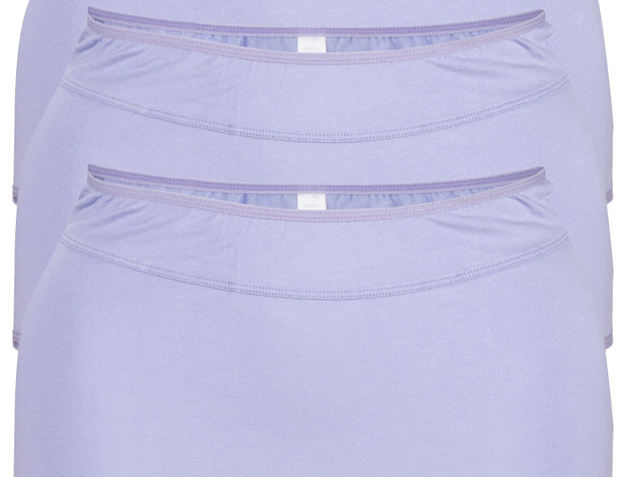 NEW FIT - Pk of 3 Comfy Cotton Full Brief Panty 14-36 (Lilac)