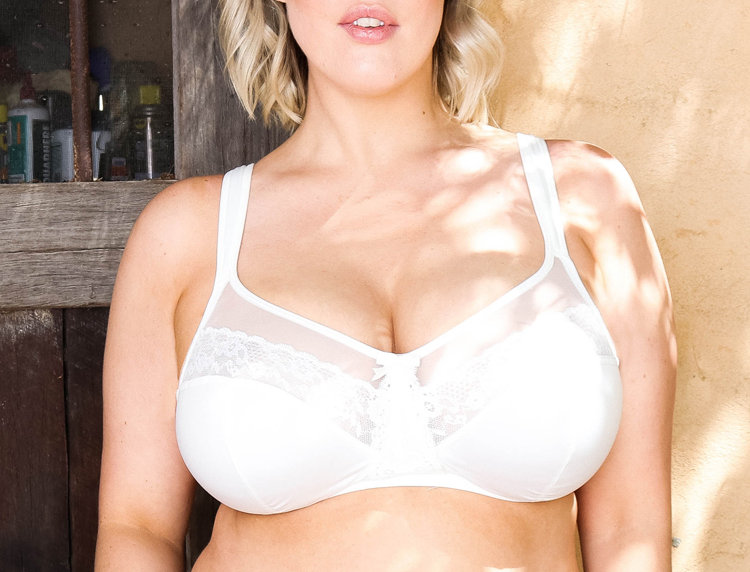 Non Wired Comfy-Straps Everyday Bra, Ivory, 16-22
