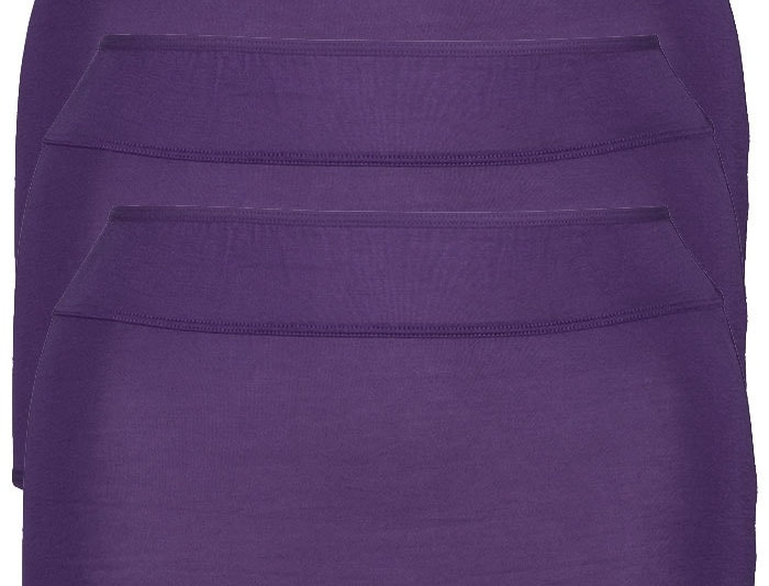 NEW FIT - Pk of 3 Comfy Cotton Full Brief Panty 14-36 (Purple)