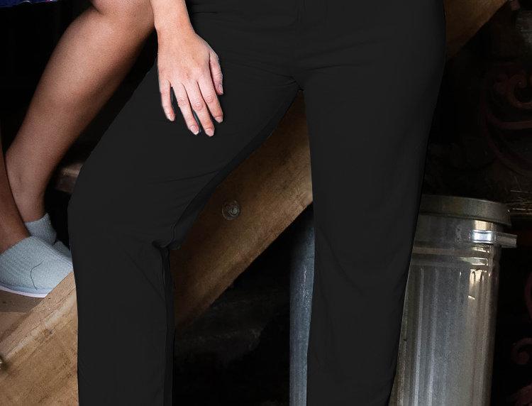 Ultra Comfy Fit Cotton Lounge Pants 14-32 (Black)