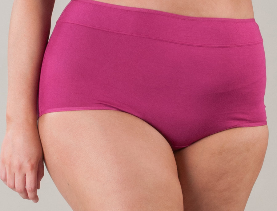 NEW FIT - Comfy Cotton Full Brief Panty 14-36 (Rosey)