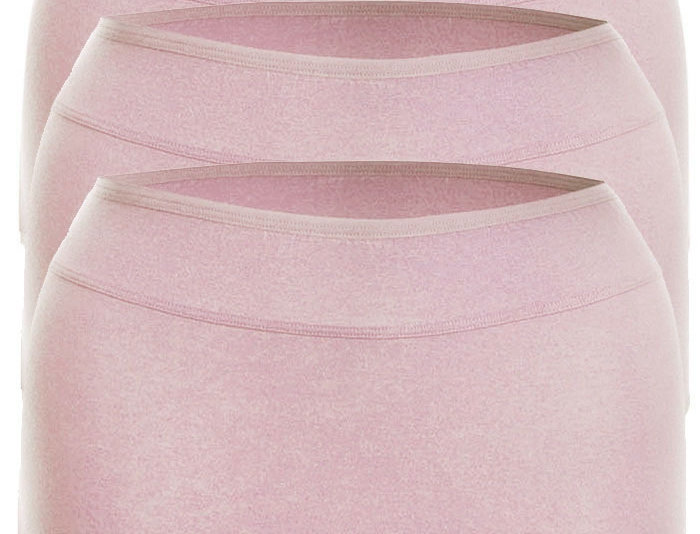 Pk of 3 Comfy Cotton Full Brief Panty 14-36 (Pink)