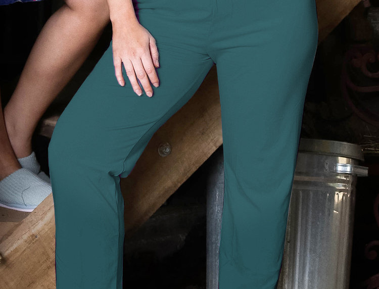 Ultra Comfy Fit Cotton Lounge Pants 14-32 (Dark Teal)