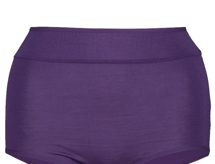 NEW FIT - Comfy Cotton Full Brief Panty 14-36 (Dark Purple)