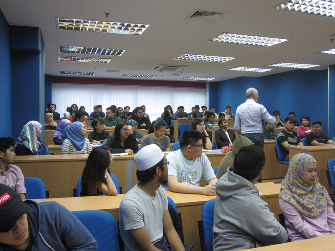 Business students learn employability skills