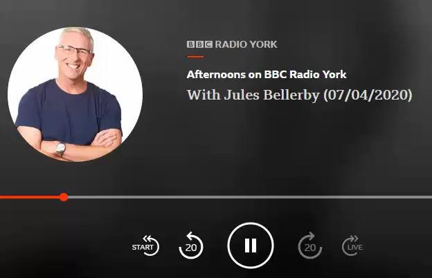 My interview with Jules on BBC Radio York