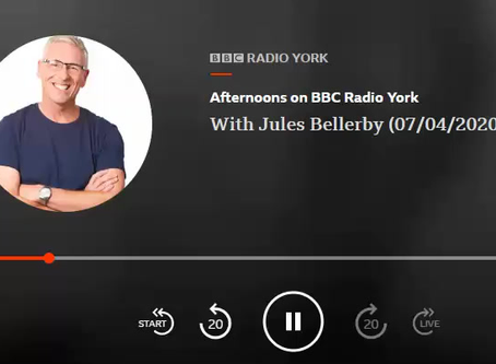 My interview with Jules on BBC Radio York