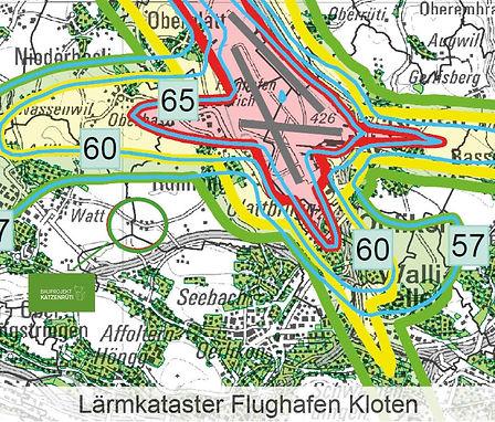 Lärmkataster Flughafen Kloten