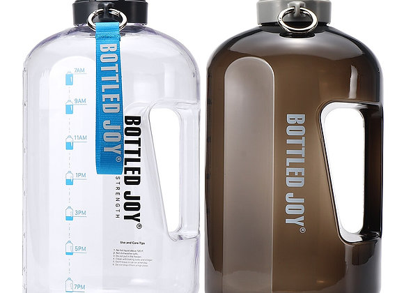1 Gallon / 3.78L Water Bottle With Time Marker BPA Free