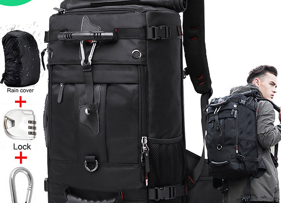 50L Waterproof Multifunction Travel Bag 17.3 Laptop Compartment
