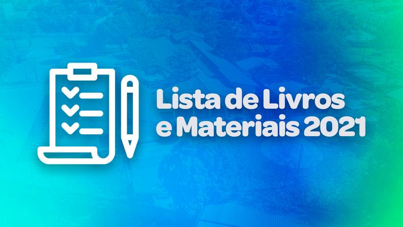 Lista de Livros e Materiais 2021