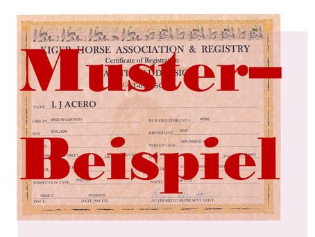 Kiger Mustang Registrierung