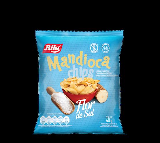 Mandioca Chips Flor de Sal 40g - 20un