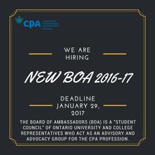 CPA Board of Ambassadors 2017-18