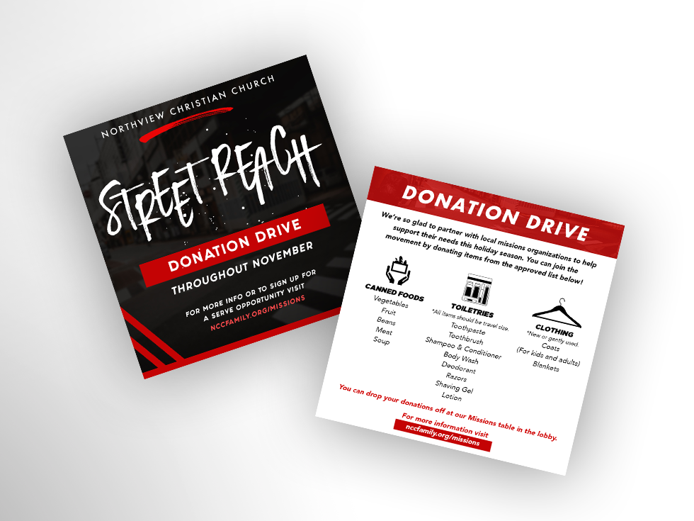 Street Reach Local Missions Launch Invite Cards