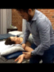 Hands on physical therapy. Joint mobilization. Sports Massage