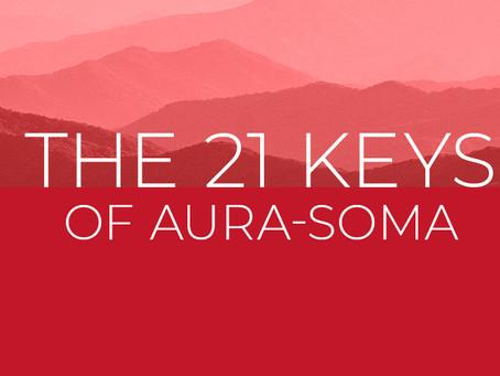 「THE 21 KEYS OF AURA-SOMA」コース受講中