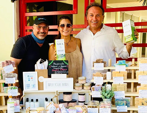 Marco Zanna with Lily and Sid at the Coconut Grove Farmers Market