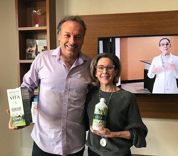 Marco Zanna and Dr. Maria Alvarez in Miami