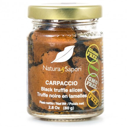 Carpaccio - Black truffle slices 80gr