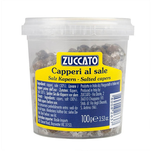 Capers in salt