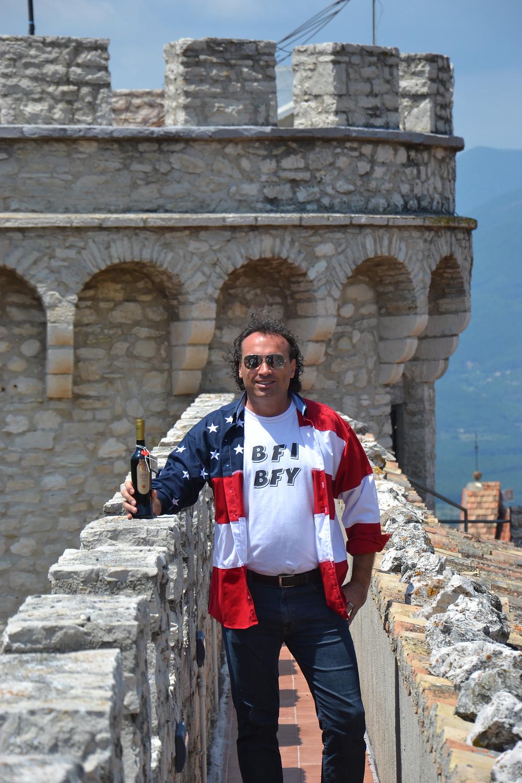 Marco Zanna on top of Principe Pignatelli castle in Monteroduni, Italy