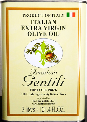 101.4 FL OZ Tin Extra virgin olive Oil Gentili