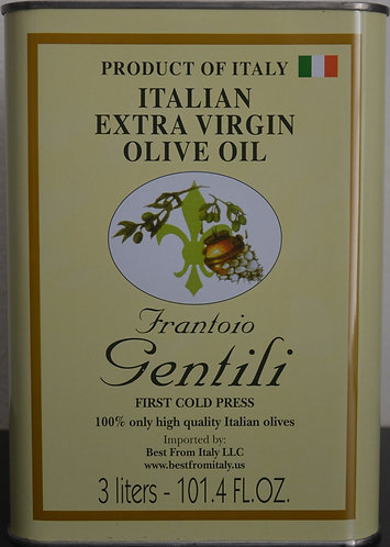 101.4 FL OZ Tin Extra virgin olive Oil Gentili