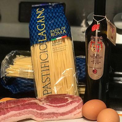 Spaghettoni Lagano, carbonara recipe