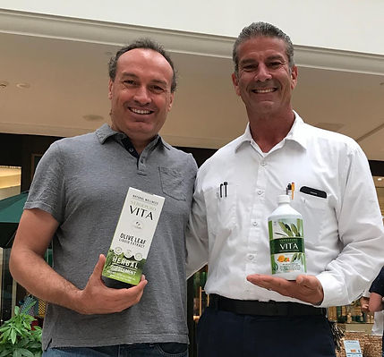 Vita people, olive leaf extract happy drinkers in Aventura Mall