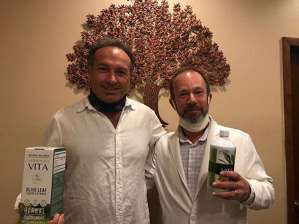 Marco Zanna and Dr. Justin Newman at The Banyan Holistic Miami