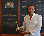 Marco Zanna and Prince Pignatelli Olive Oil at Miami Beach Chamber of Commerce