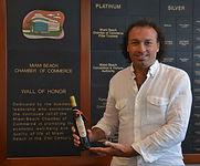 Marco Zanna and Prince Pignatelli Olive Oil at Miami Beach Chamber of Commerce