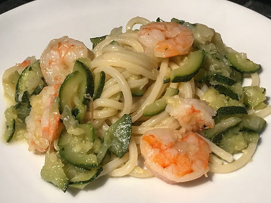 Tonnarello Lagano zucchini shrimp