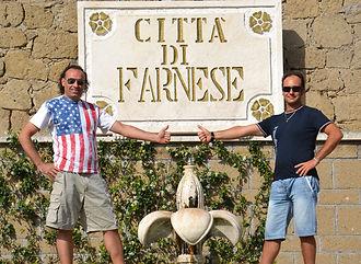 Romolo Gentili and Marco Zanna in Farnese, Italy