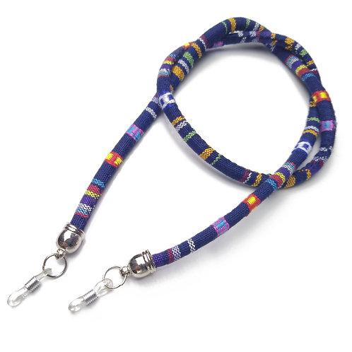 Cordão para óculos etnico - Azul Escuro