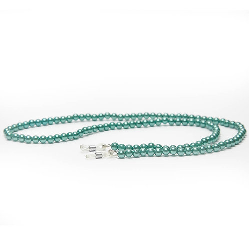 Cordão para óculos perolado - Tiffany Blue