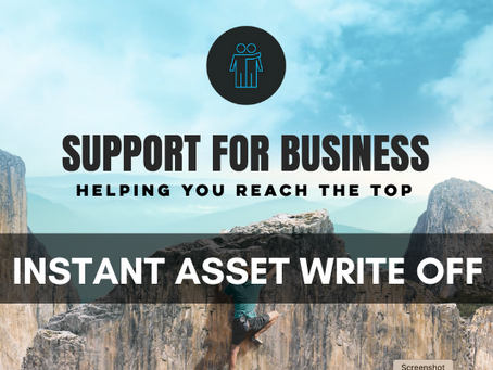 'Instant Asset Write Off' extended until 30th June 2023