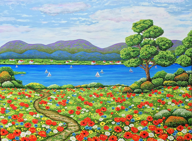 """Lovely Afternoon (48"""" x 36"""" x 1.5"""")"""