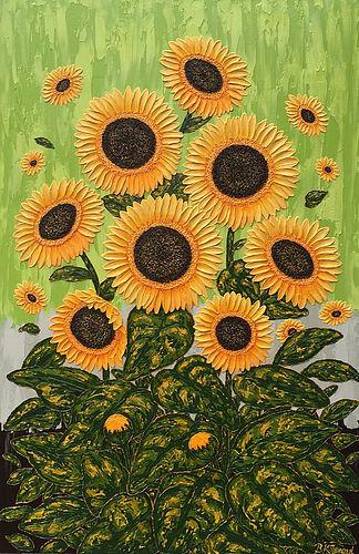 """Sunflower Joy 24"""" x 36"""" 3/4"""""""