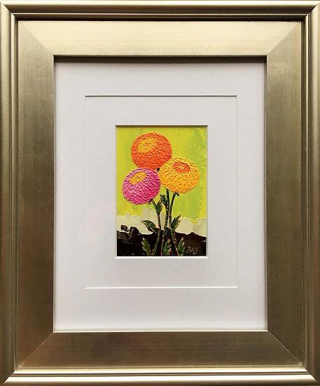 "Chrysanthemums Bund 5"" x 7"" (frame 19"" x 16"")"