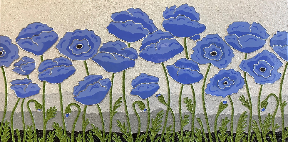 "Sweet Poppies (48"" x24"" x 1.5"")"