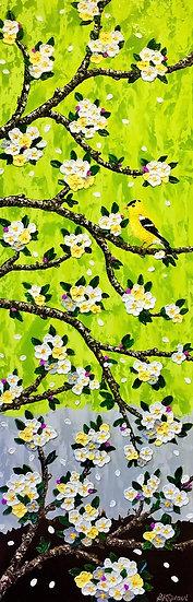 """Bird Song (12"""" x 36"""" x 1 1/2"""")"""