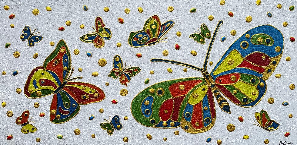 """Butterflies Dance (48"""" x24"""" x 1.5"""")"""