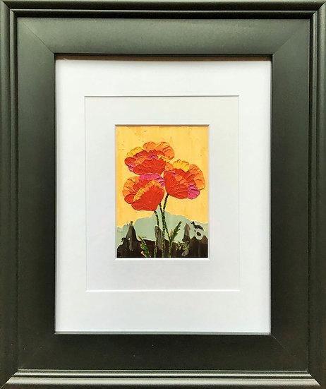 """Poppy Trio 5"""" x 7"""" (frame 19"""" x 16"""")"""